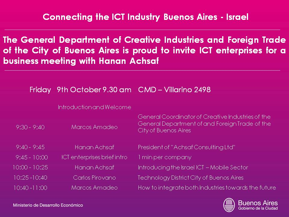 Connecting the ICT Industry Buenos Aires - Israel